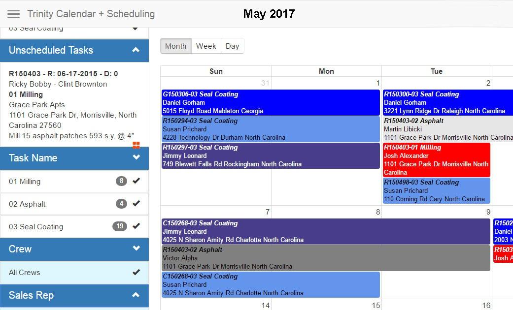 Quick Base Online Scheduling App